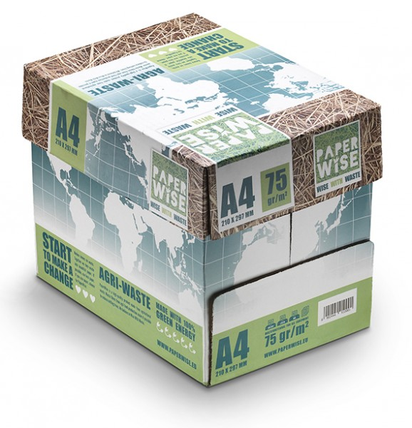 nachhaltiges Papier aus Zuckerrohrfasern, 75g/m², DIN A4, 5x500 Blatt