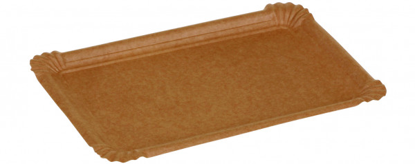 Pappteller kraft braun ohne Beschichtung 350gr/m² 180x260mm