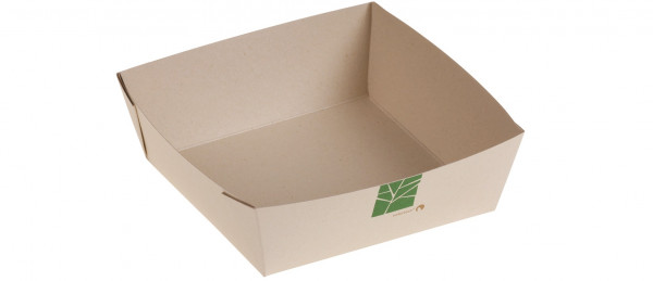 PaperWise Salat-Box 750ml, 15,5x15,5x5cm, naturesse