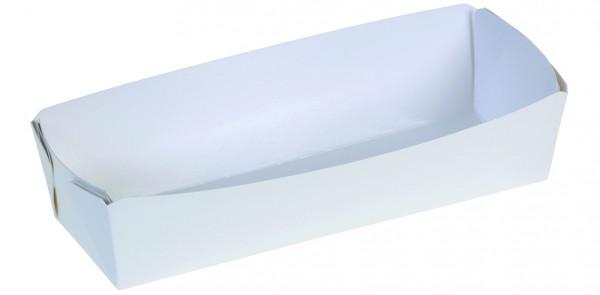 Karton-Backschale weiß, 1000g, 216x70x55mm